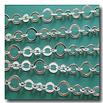 Silver Plate Three Ring Design Chain