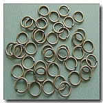1-323 Brushed Silver Jump Rings -- 8mm x 18 gauge