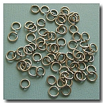 1-324 Brushed Silver Jump Rings -- 6mm x 18 gauge
