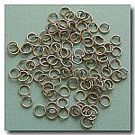 1-325 Brushed Silver Jump Rings -- 6mm x 21 gauge