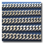 Stainless Steel Large Diamond Cut Tight Knit Boxcar Curb Chain 6mm