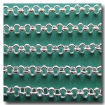 Silver Plate Small Classic Rolo (Belcher) Style Chain 2.5mm