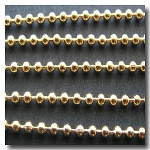 1-400 Gold Plate Ball Chain 1.5mm