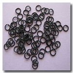 1-407 Matte Black Jump Rings -- 6mm x 21 gauge