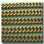 Antique Brass Large Diamond Cut Boxcar Curb Chain 6mm
