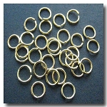 1-431 Gold Plate Jump Rings -- 8mm x 18 gauge