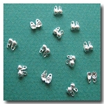 1-449 Silver Plate Ball Tip Connector 6pieces  - 2mm