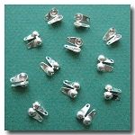 1-450 Silver Plate Ball Tip Connector 6pieces  - 3.2mm