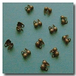 1-453 Antique Brass Ball Tip Connector 6pieces  - 2mm