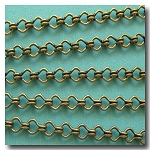 Antique Brass Standard Steampunk Chain