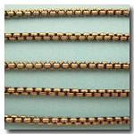 Antique Brass New Box Chain 3mm