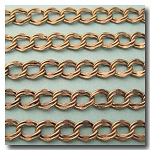 Antique Brass Double Curb Chain 7.2x8.5mm