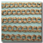 Antique Brass Large Double Curb Chain 9.8x11mm