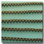 Antique Brass Rolo (Belcher) Style Chain 3mm