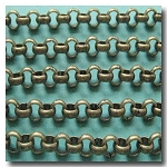 Antique Brass Rolo Chain 4.5mm