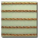 Antique Brass Rope Style Chain 3mm