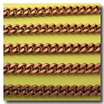 Antique Copper Medium Diamond Cut Boxcar Chain 5.5mm