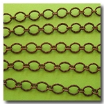 Antique Copper Crimped Oval Style Chain