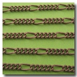 Antique Copper Figaro Style Chain