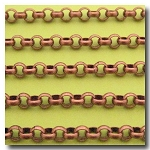 Antique Copper Large Rolo Chain 7mm