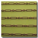 Antique Copper Crimped Olivet Chain