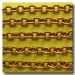 Antique Copper Classic Elongated Oval Cable Chain  6.5mm x 5mm