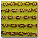Antique Copper Medium Peanut Style Chain