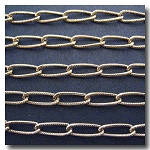 Antique Gold Twisted Textured Cable Chain