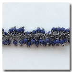 Royal Blue Beaded Dangle Chain