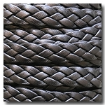 Black Braided European Flat Leather - 10mm