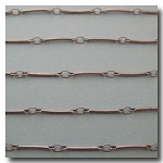 Brushed Silver Plate Bar Chain