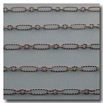 Brushed Silver Plate Crimped Olivet Chain