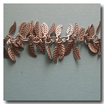 Brushed Silver Plate Leaf Chain