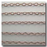 Brushed Silver Plate Petite Etched Margarithe Chain