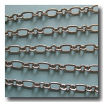 Brushed Silver Plate Medium Romantic Style Chain