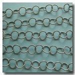 Brushed Silver Plate Contemporary Round Curb Chain 5mm