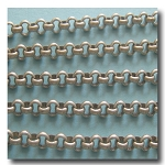 Brushed Silver Plate  Rolo (Belcher) Style Chain 3mm