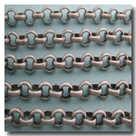 Brushed Silver Plate Rolo Chain 4.5mm