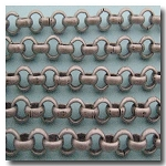 Brushed Silver Plate Rolo Chain 6mm