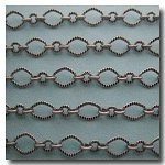 Brushed Silver Plate Crimped Moderne Victorian Chain