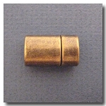 Antique Brass Euro Licorice Plain Magnet Clasp