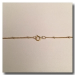 Gold Filled Necklace | Satellite Chain Half Inch | 16 inch