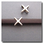 Antique Silver Euro Licorice 'X'