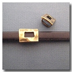 Antique Brass Euro Licorice Distressed Buckle
