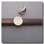 Antique Silver Euro Licorice Coiled Coin