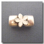 Antique Silver Euro Licorice Flower Magnet Clasp