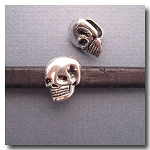 Antique Silver Euro Licorice Skull