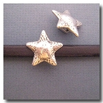 Antique Silver Euro Licorice Hammered Star