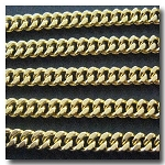 Gold Plate Medium Diamond Cut Boxcar Curb Chain 5.5mm