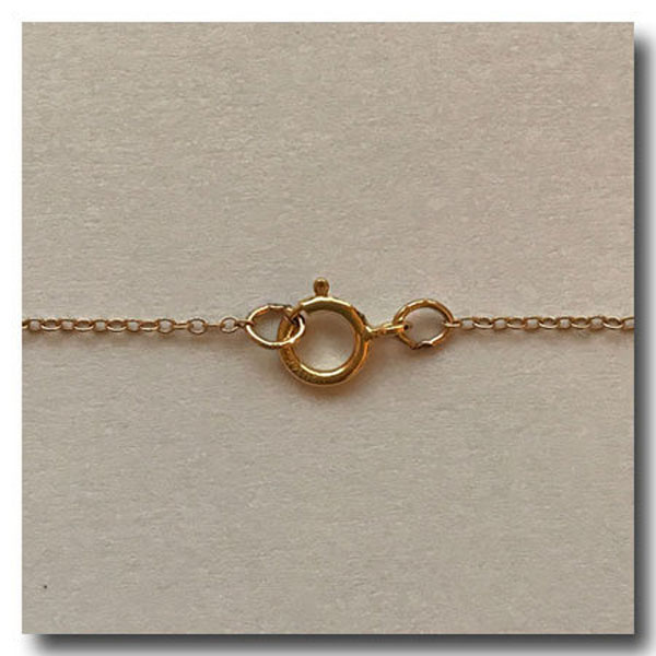 Gold Filled Necklace Invisible Chain 18 Inch